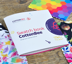 Swatch book for fabric printing