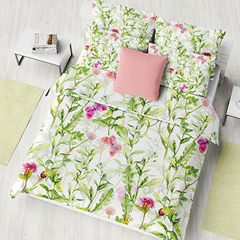 Satin bedsheet custom printed