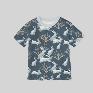 T-shirt made of printed cotton single jersey fabric