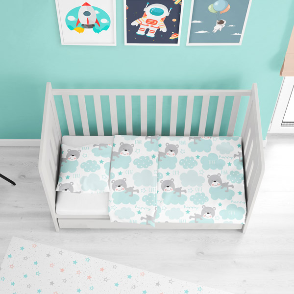 Custom kids bedding made of cotton fabric