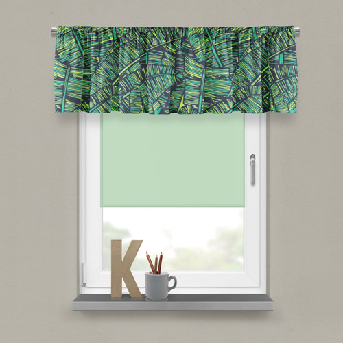 Kitchen curtains with food print