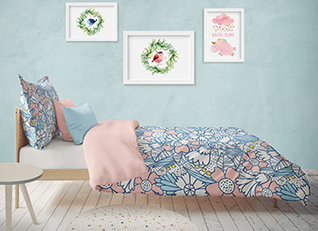 Fabrics for children bedding