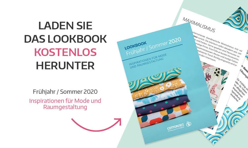 Laden Sie das Lookbook kostenlos herunter Frühjahr/Sommer 2020 Inspirationen für Mode und Raumgestaltung