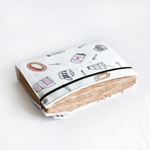 Notepad with cotton cloth cover
