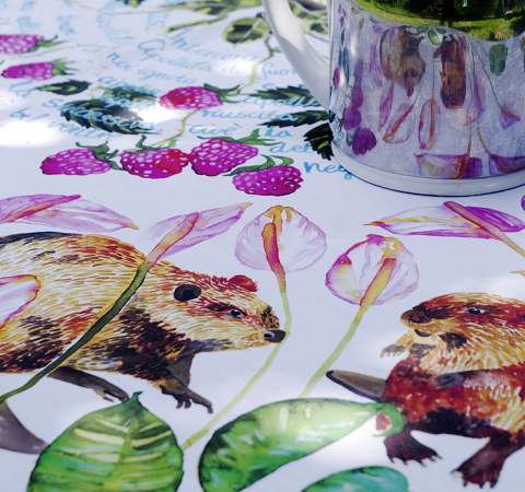 Custom printed cotton tablecloth