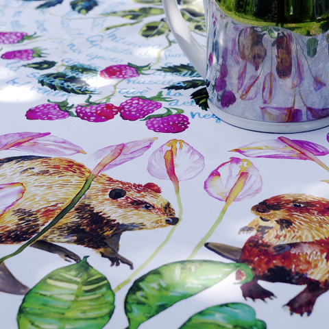 Custom printed cotton tablecloth
