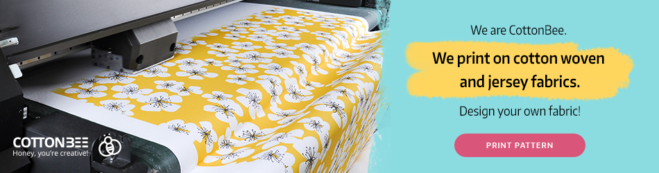 CottonBee - custom printed sewing fabric on demand