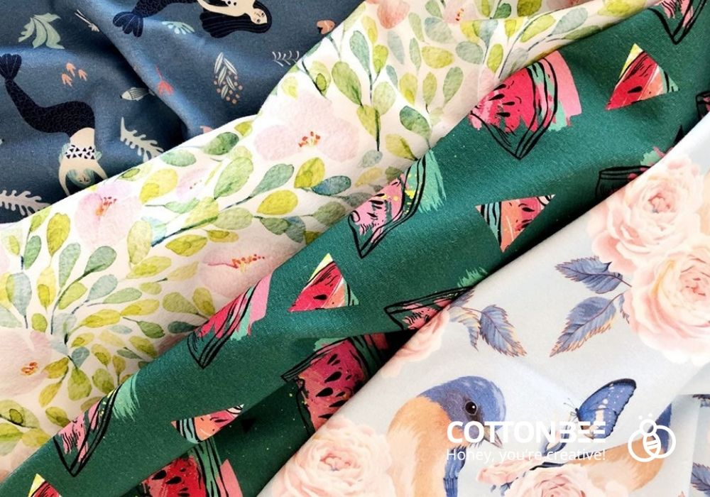 sewing fabrics printed on demand in CottonBee