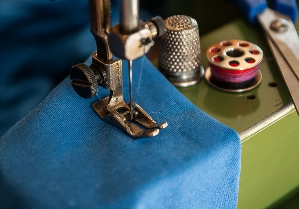 sewing with the machine