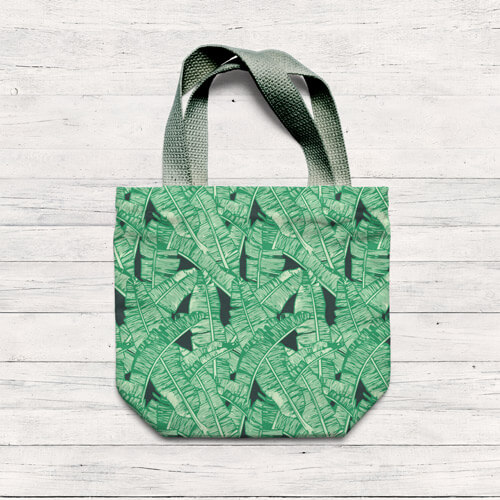 eco bag with tropical leaves