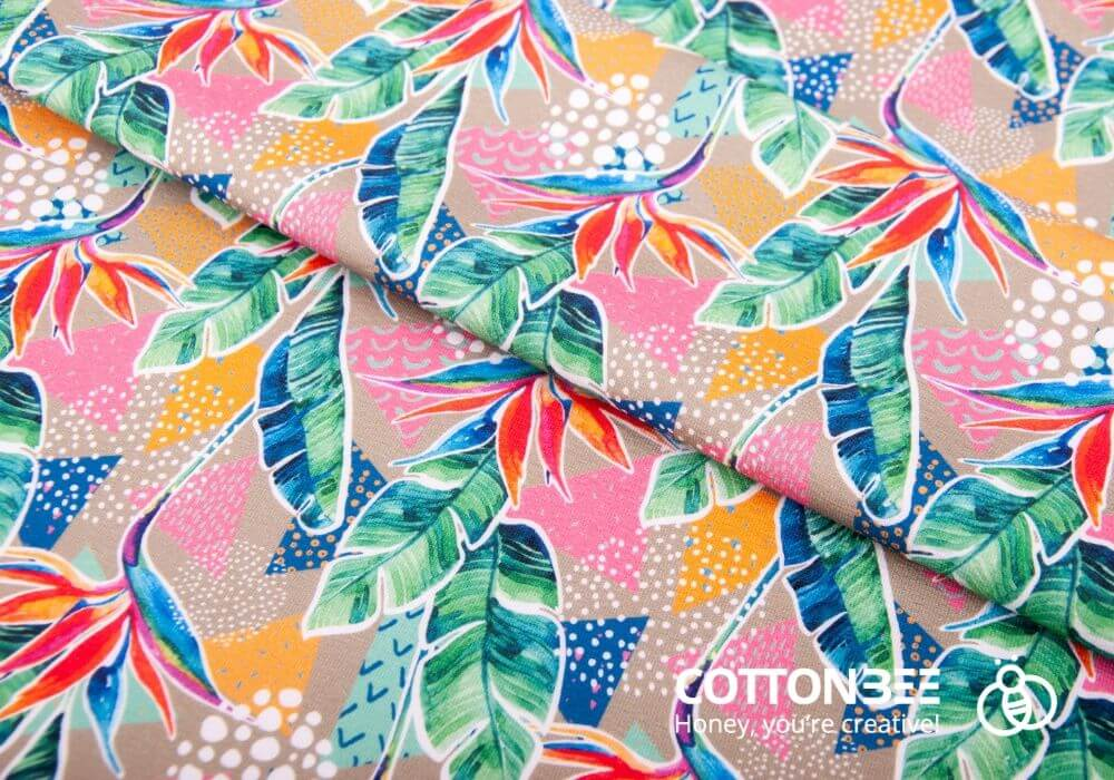 tropical leaves to print on fabric