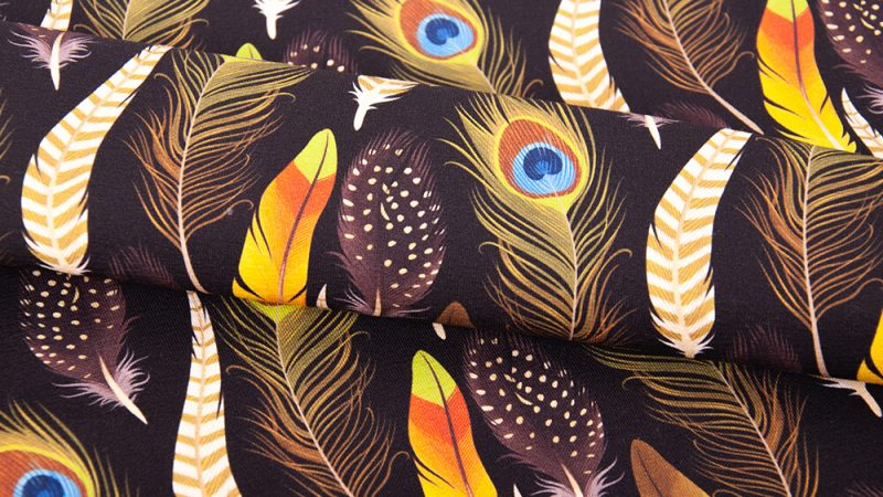 Peacock feather fabrics – a reason to be proud