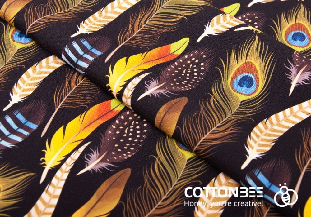 the peacock feather fabrics