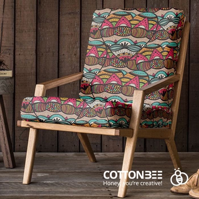 Chair with african print