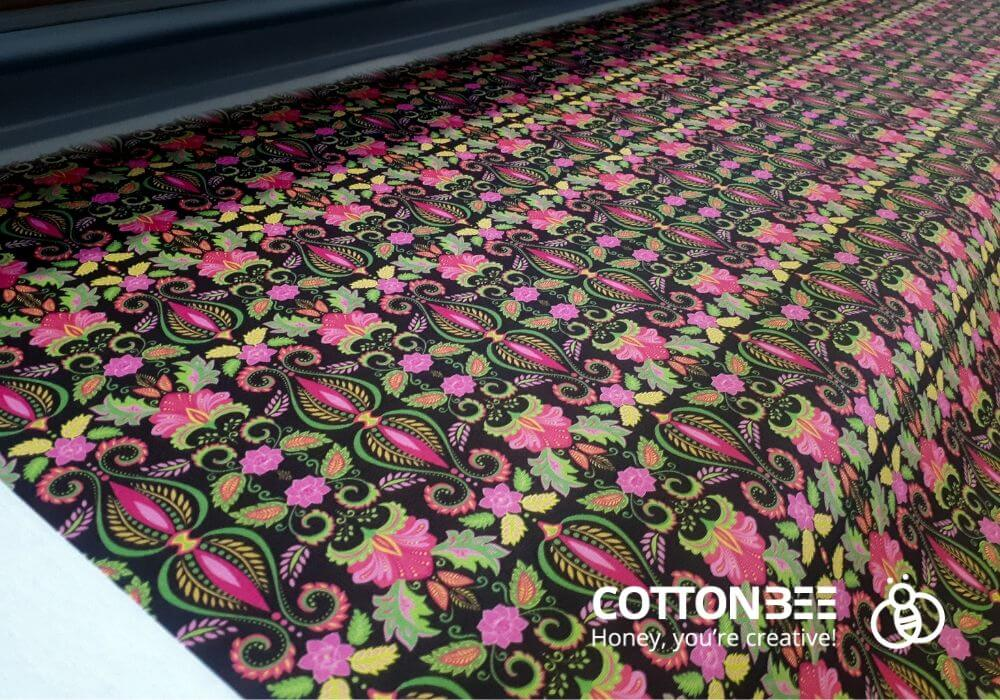 Floral pattern printing in CottonBee