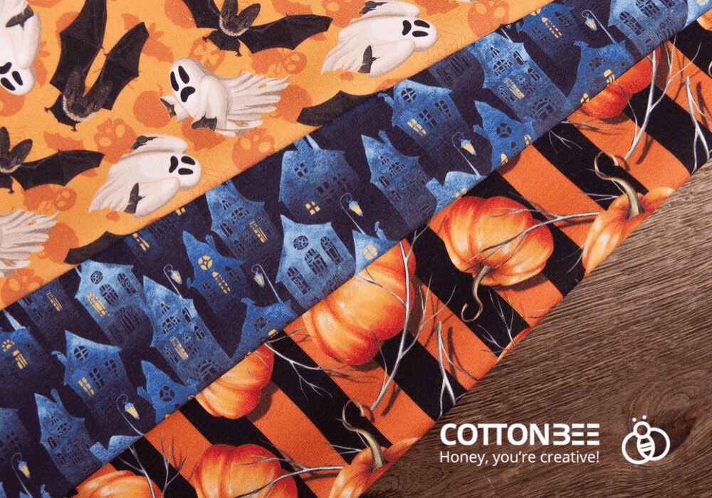 halloween printed sewing fabrics