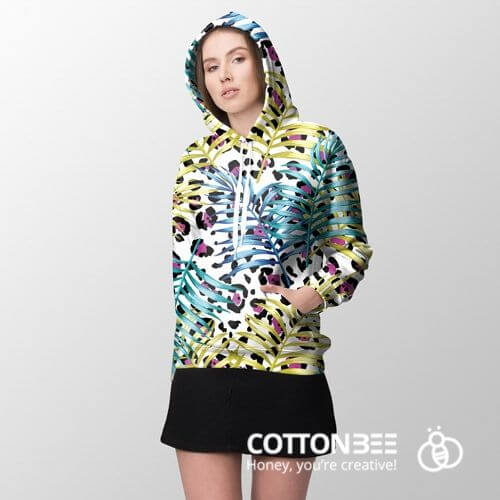 sweatshirt with spots made out of loopback jersey