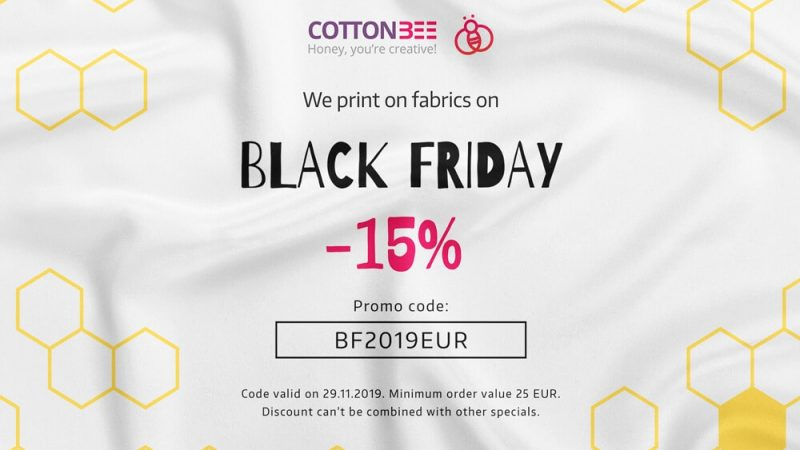 BLACK FRIDAY Order fabrics with 15% discount at CottonBee