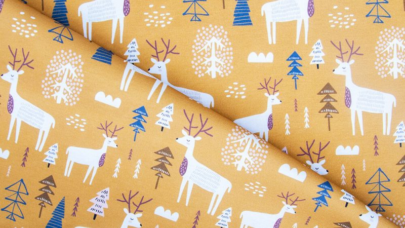Reindeer pattern fabrics – it is worth welcoming nature to your home!