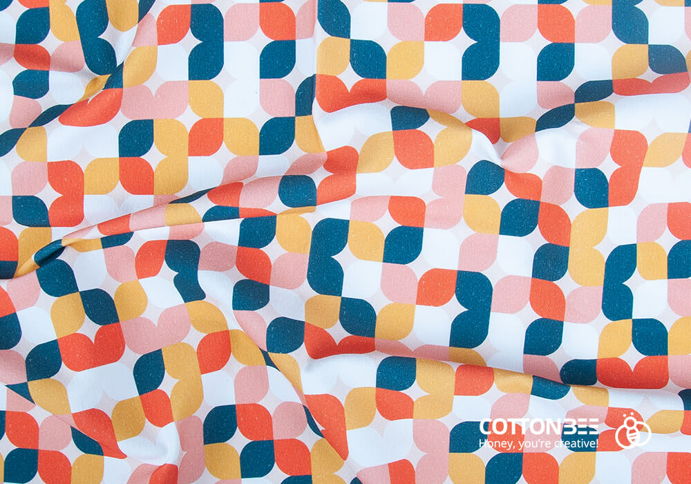 '60s fabrics printed digitally by CottonBee. Pattern available at ctnbee.com