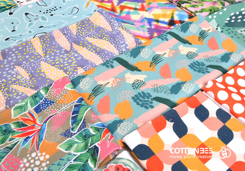 Sewing fabrics printed by CottonBee