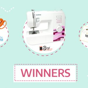 Giveaway winners! Win a sewing machine and other prizes!