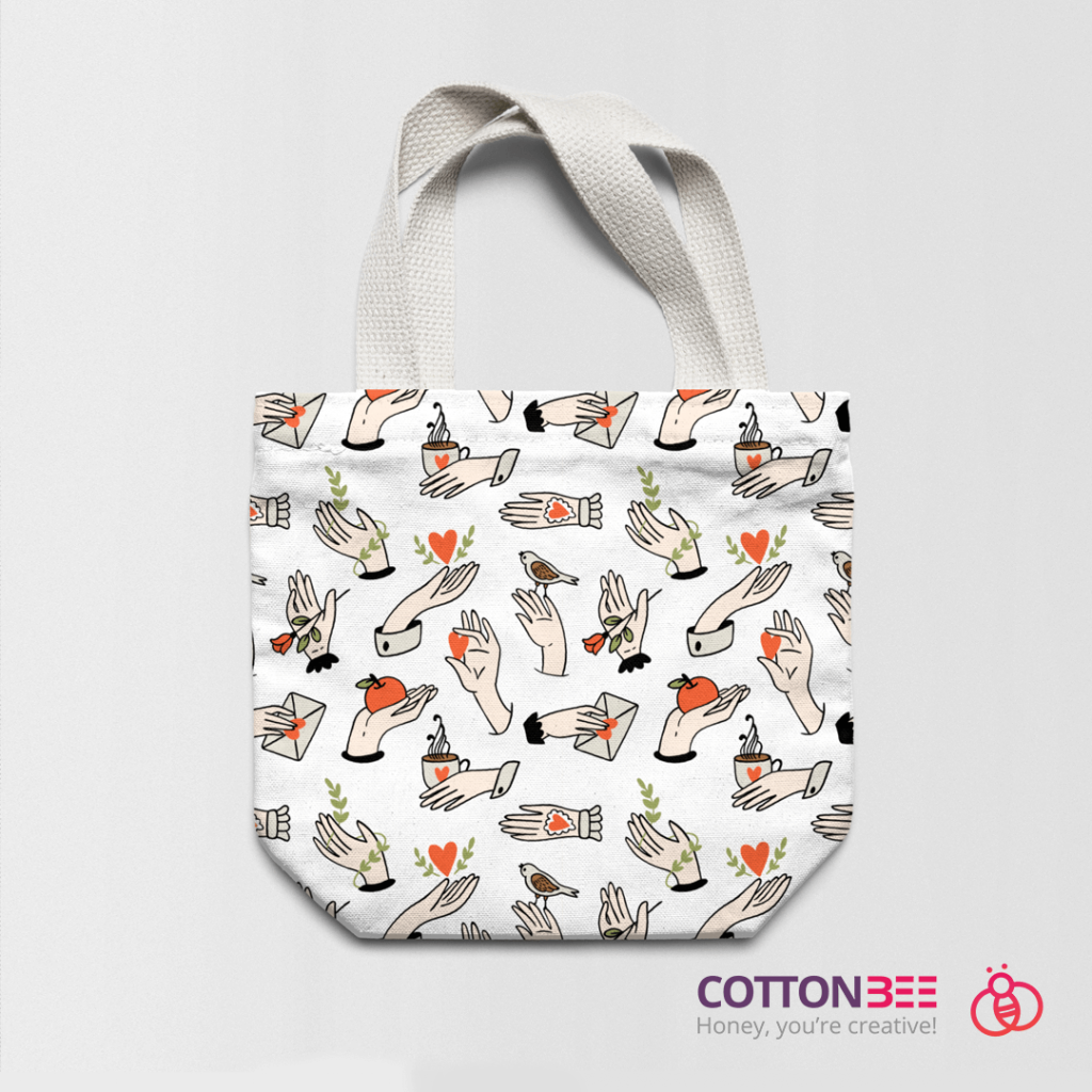 Cotton bag made out of fabric printed by CottonBee