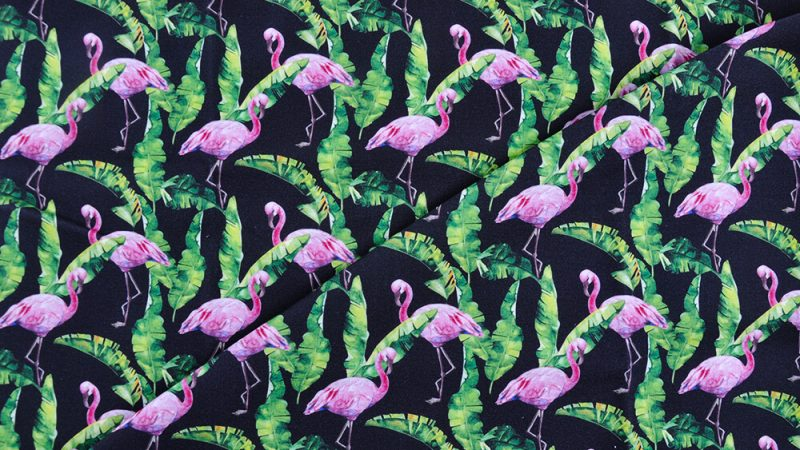 Flamingo printed fabric – get ready for the summer!