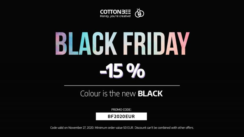 Black Friday 2020 – print fabrics with 15% discount!