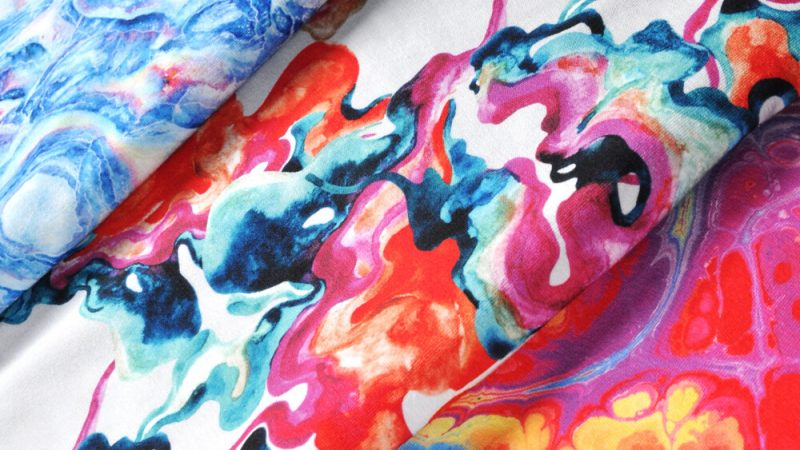 Paint swirls fabric – a fabric unique in every respect