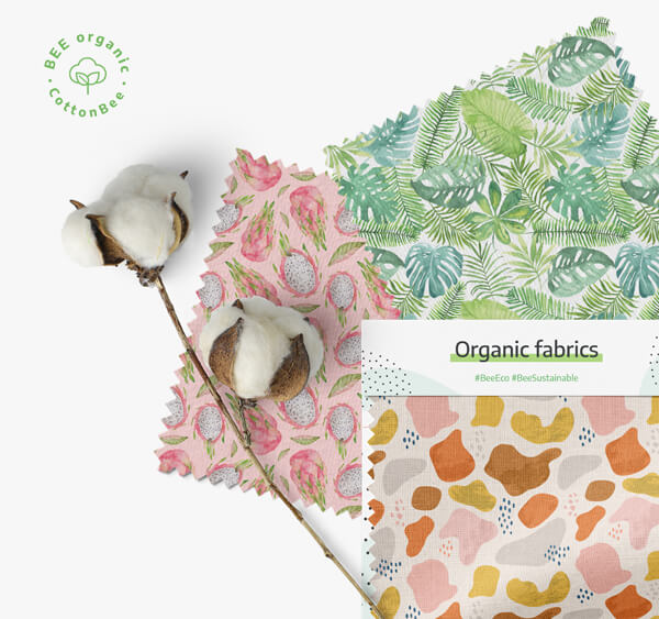 Print on organic cotton sateen