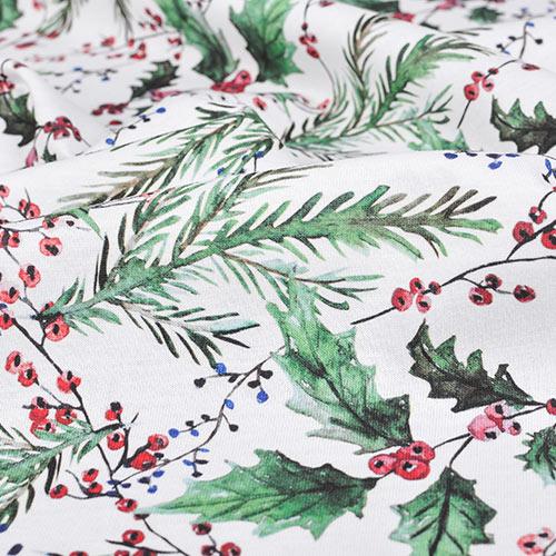 Bawełniane tkaniny i dzianiny do szycia z świątecznym wzorem
