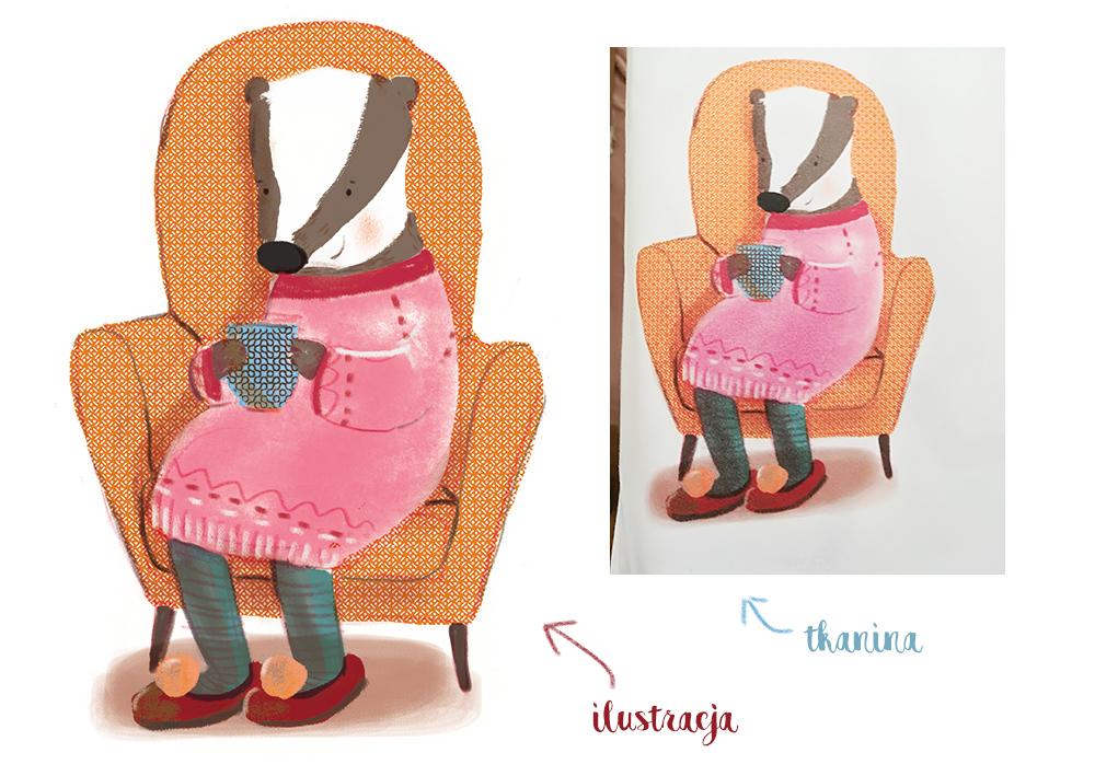 drukowanie ilustracji na tkaninie