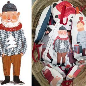 Drukowanie ilustracji na tkaninie – gościnny wpis Ani Simeone