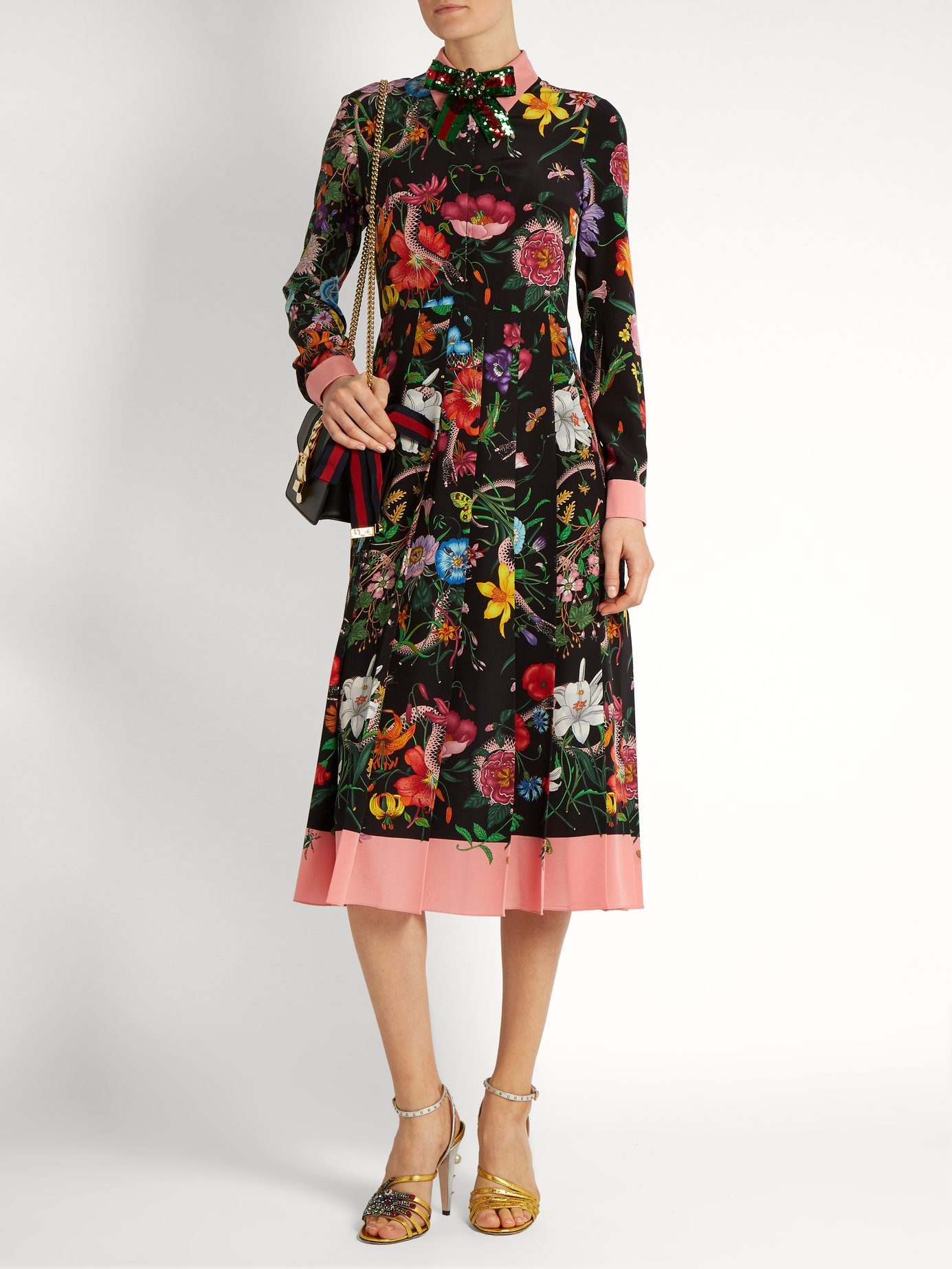 kwiatowe wzory na pokazach mody na 2018