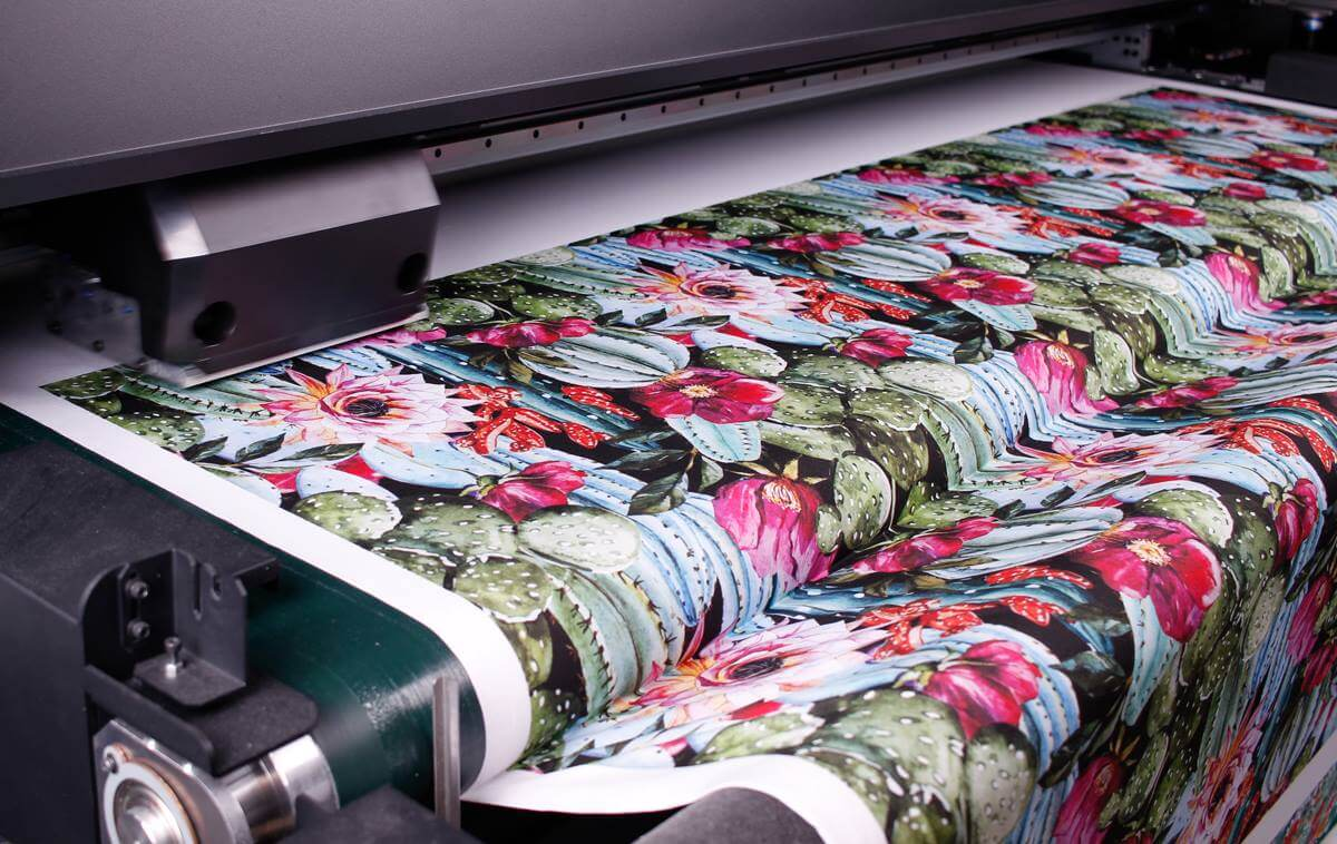 Woven fabrics printed on demand