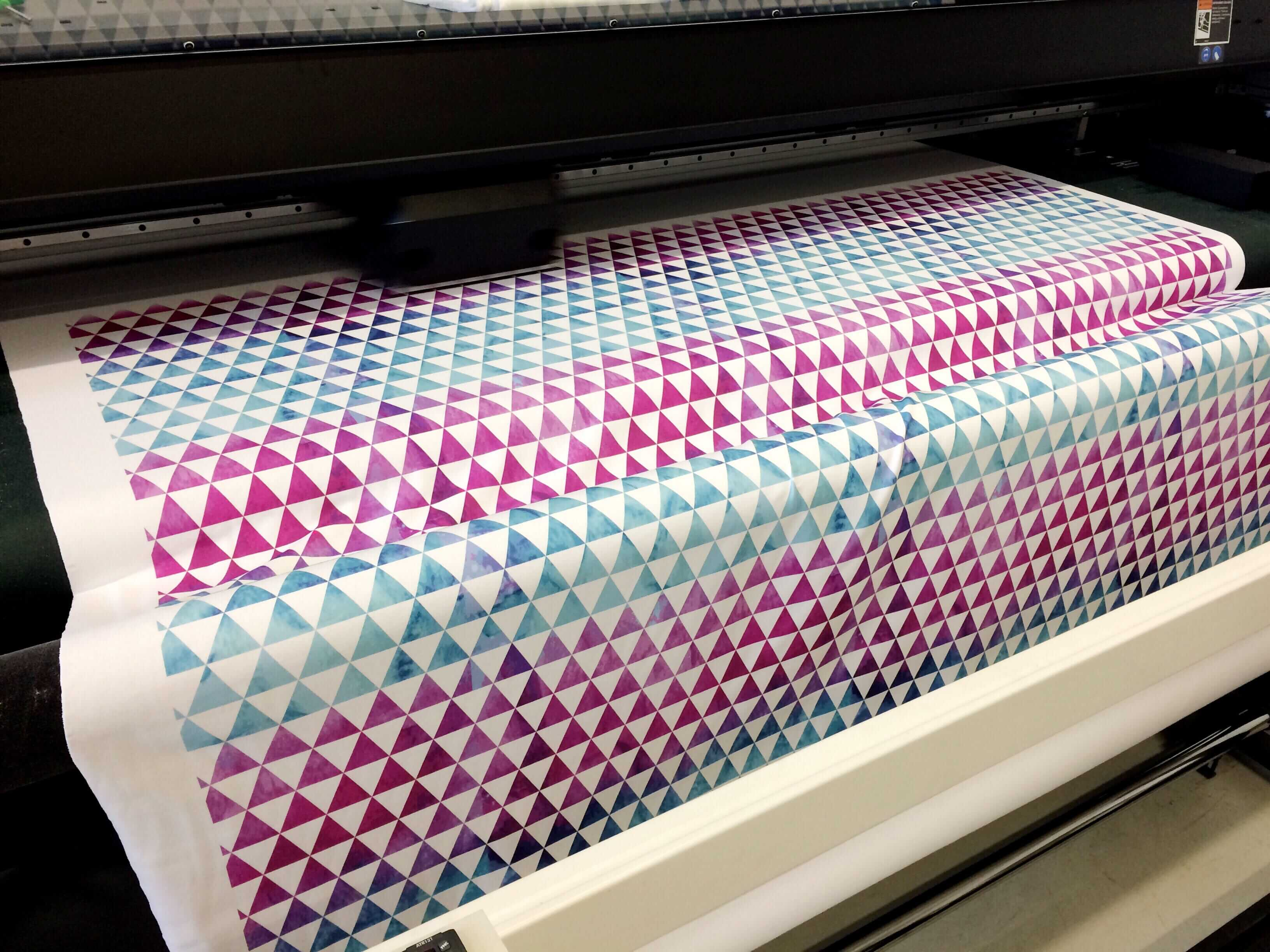 Fabric printing on demand