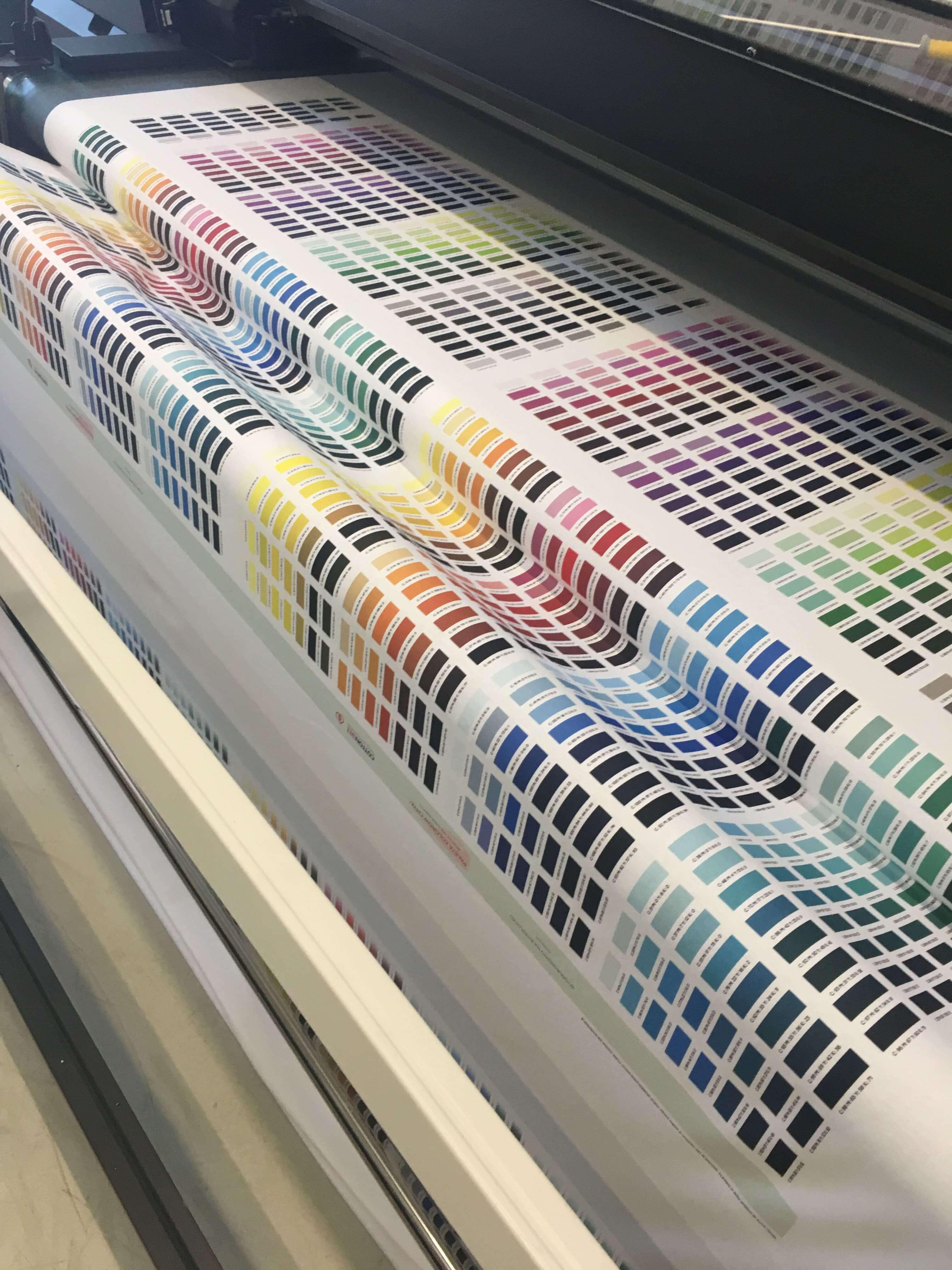 Drukowanie na materialach - mapa kolorow