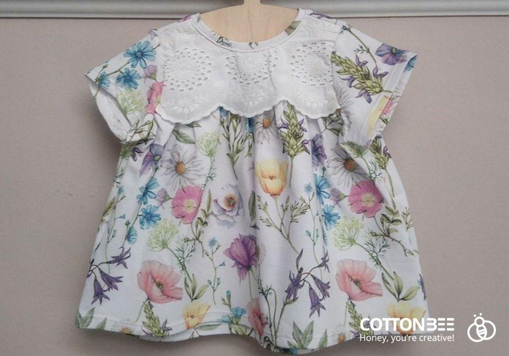 sukienka dla dziewczynki w kwiaty