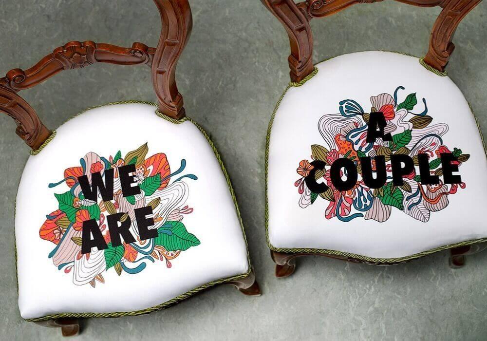 krzesla tapicerowane z gabardyny