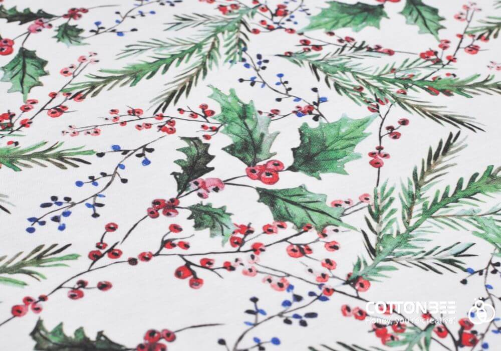Kolekcja bawełnianych tkanin i dzianin do szycia w świąteczne wzory