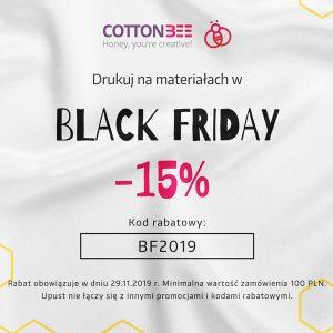 BLACK FRIDAY Zamów tkaniny z rabatem 15% w CottonBee