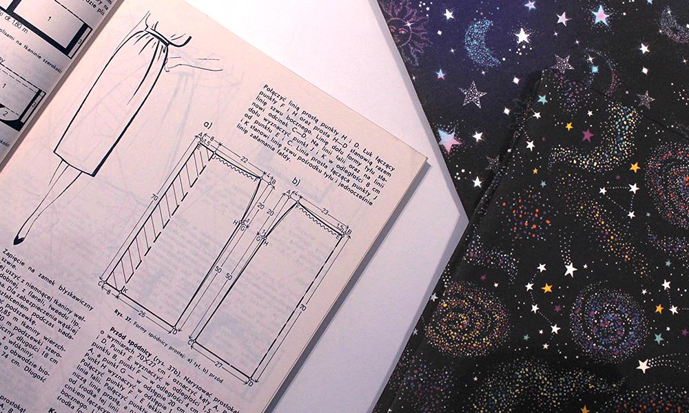 Instrukcje jak uszyć spódnicę ołówkową z książki ABC kroju i szycia
