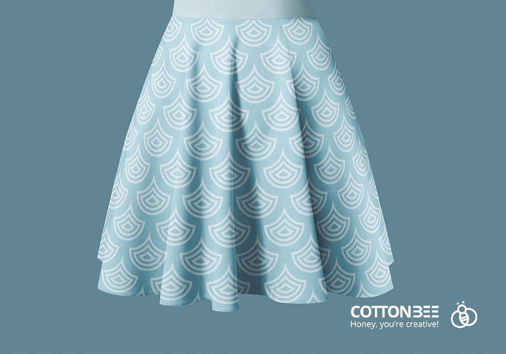 Spódnica z koła wykonana z materiałów wydrukowanych w CottonBee