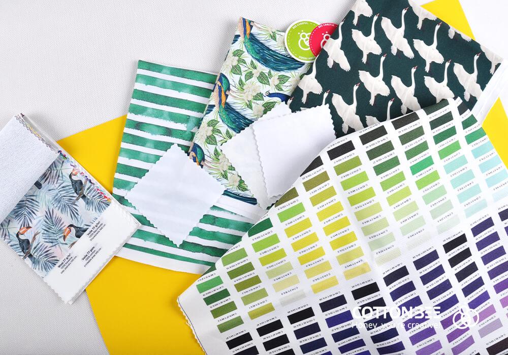 Wydrukuj bawełniany materiał na sukienkę w CottonBee
