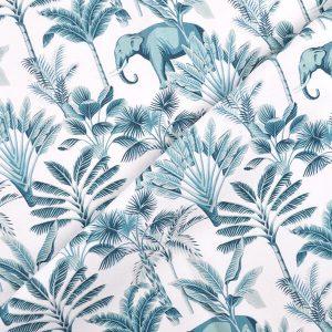 Materiał w słonie – piękna tkanina, która zachwyca wyjątkowym wzorem