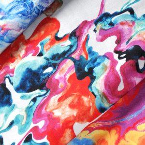 Materiał do szycia w rozmieszaną farbę – tkanina unikatowa pod każdym względem