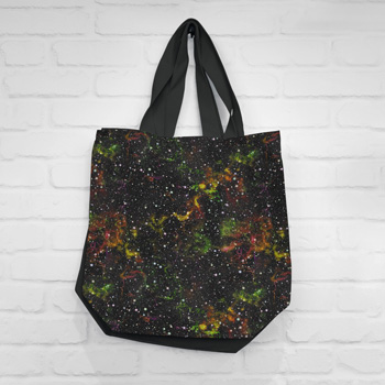 bag made of galaxy fabric