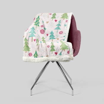 chair reupholstered with christmass tree fabric