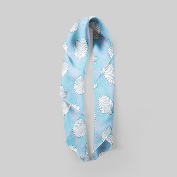 cotton shawl with beach print